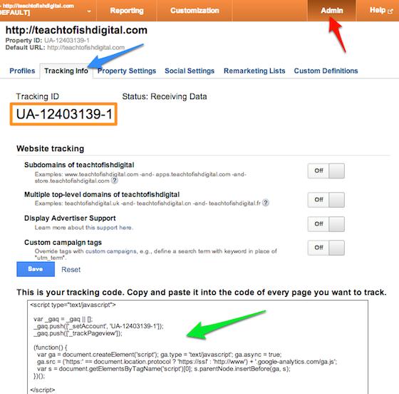 Google Analytics Tracking Script