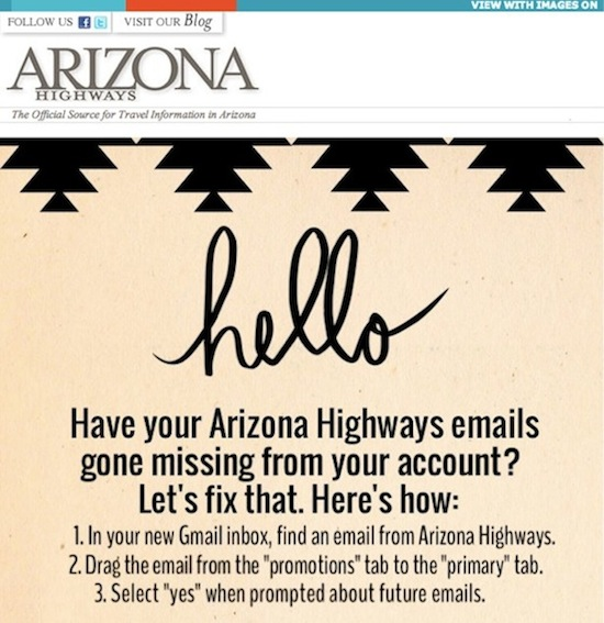 Arizona Highways Gmail