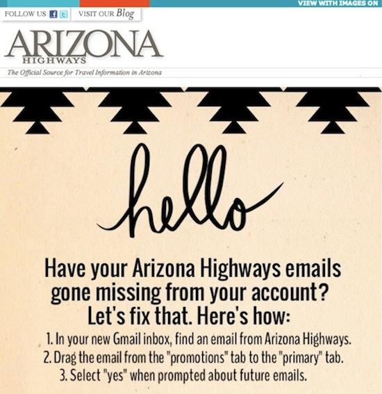 Arizona Highways Gmail