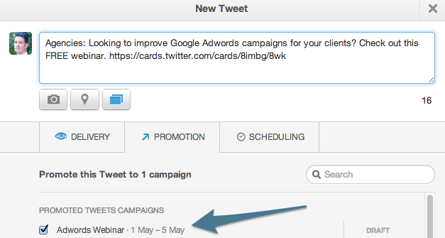 Twitter Lead Generation Card Ad Campaign