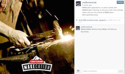 Craftsman Makecation Instagram