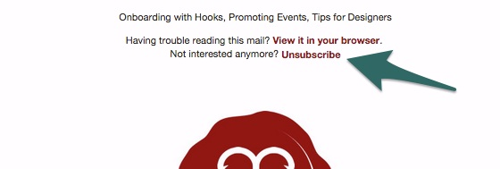 unsubscribe in header