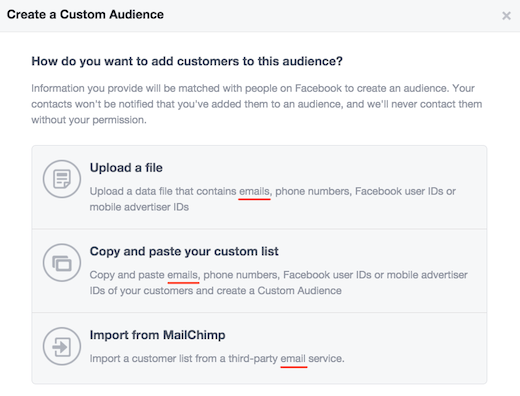 Create Custom Facebook Audience