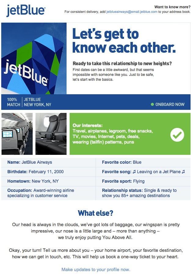 JetBlue Preferences