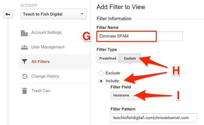 Create Google Analytics SPAM Filter